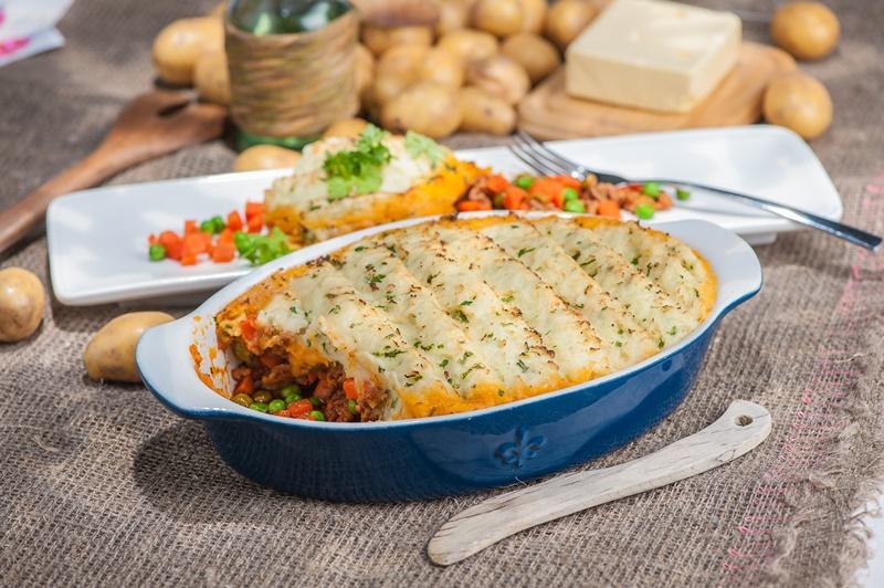 Maltās gaļas un kartupeļu krēma pīrāgs