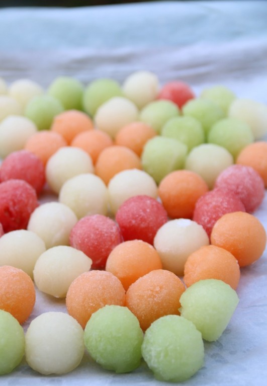 Melon-ball-ice-cubes