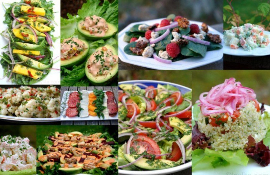 10 lieliskas vasaras salātu receptes