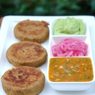 Green-plantain-patties-with-dipping-sauces