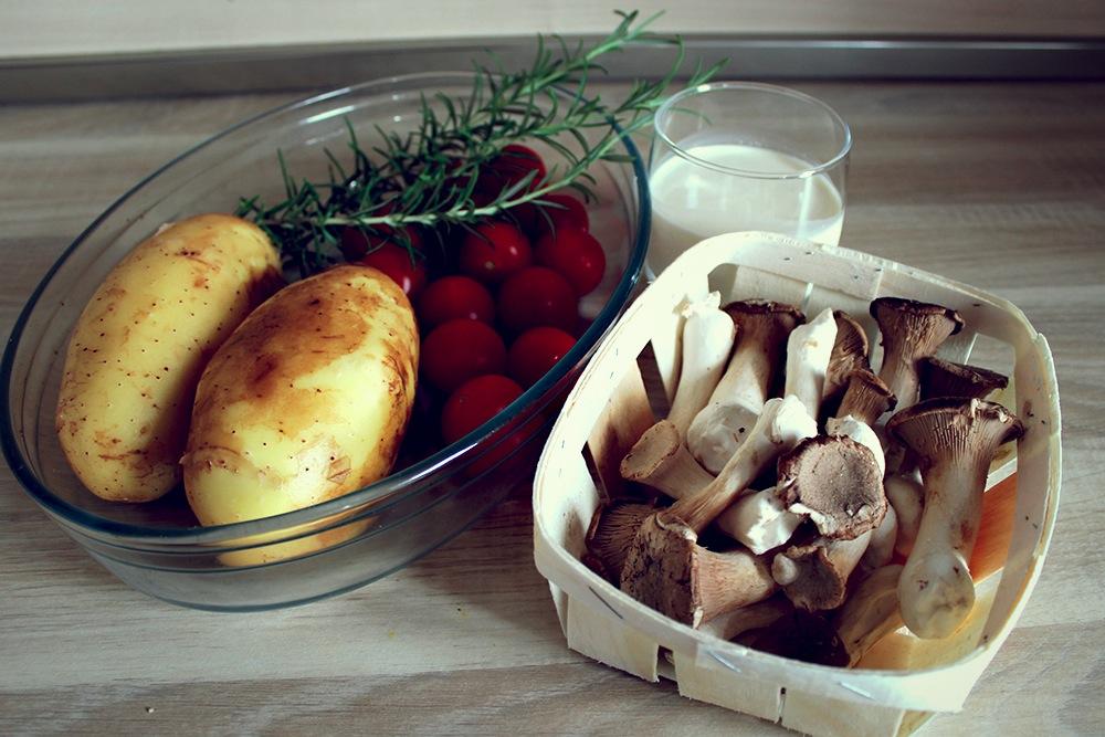 Sēņu un kartupeļu sacepums