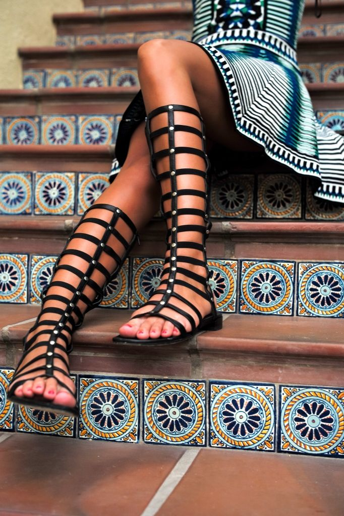Stila odziņa: gladiatoru sandales