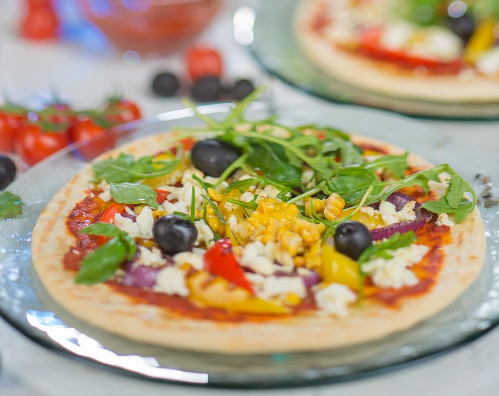 Grildārzeņu pica