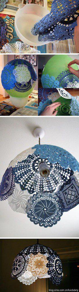Radoša ideja – mežģīņu lampa